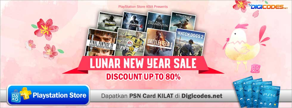 Lunar New Year Sale - Hanya di PlayStation Store ASIA | Up to 80% Off - Digicodes.net