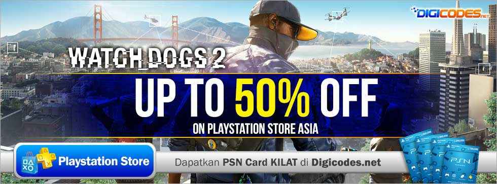 Watch Dogs 2 Official Playstation Store Pre Order: Watch Dogs 2 Discount Up To 50% Off On PlayStation Store