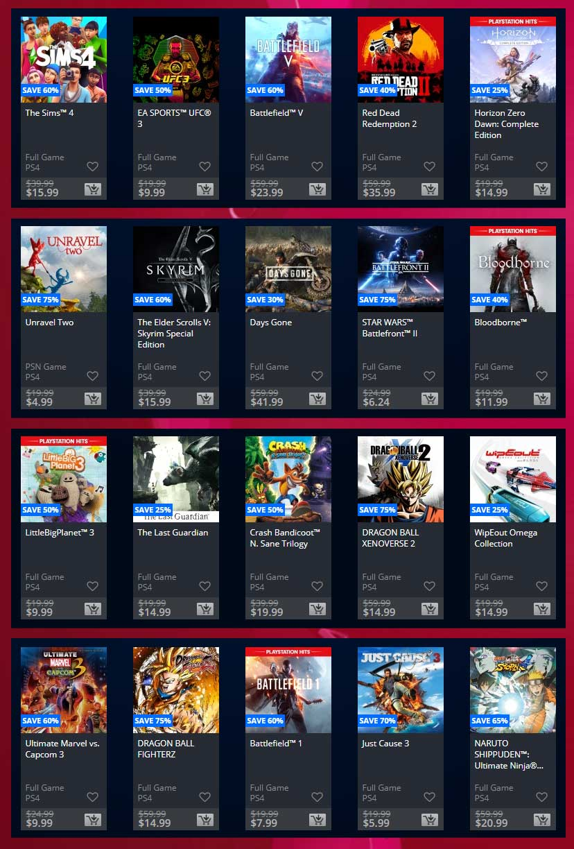 PlayStation Store Games of the Generation Sale 80% off - 09 Okt 2019