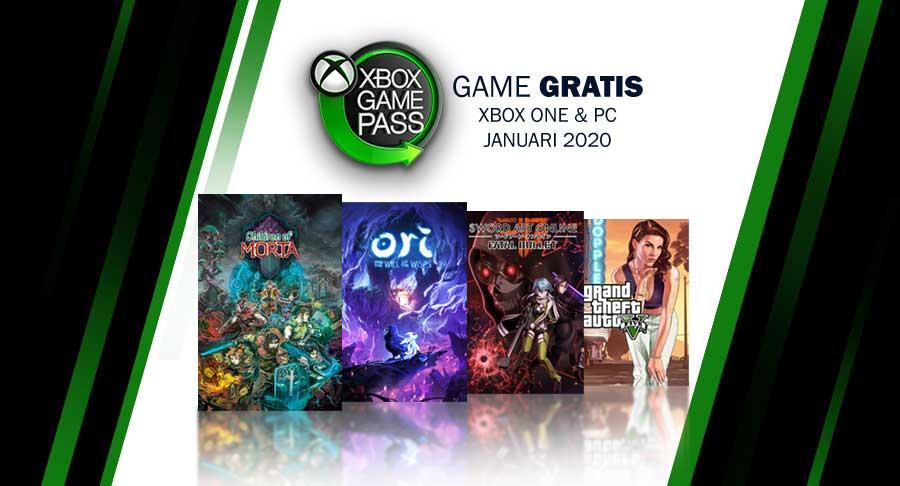 Game Gratis XBOX Game Pass di bulan Januari 2019